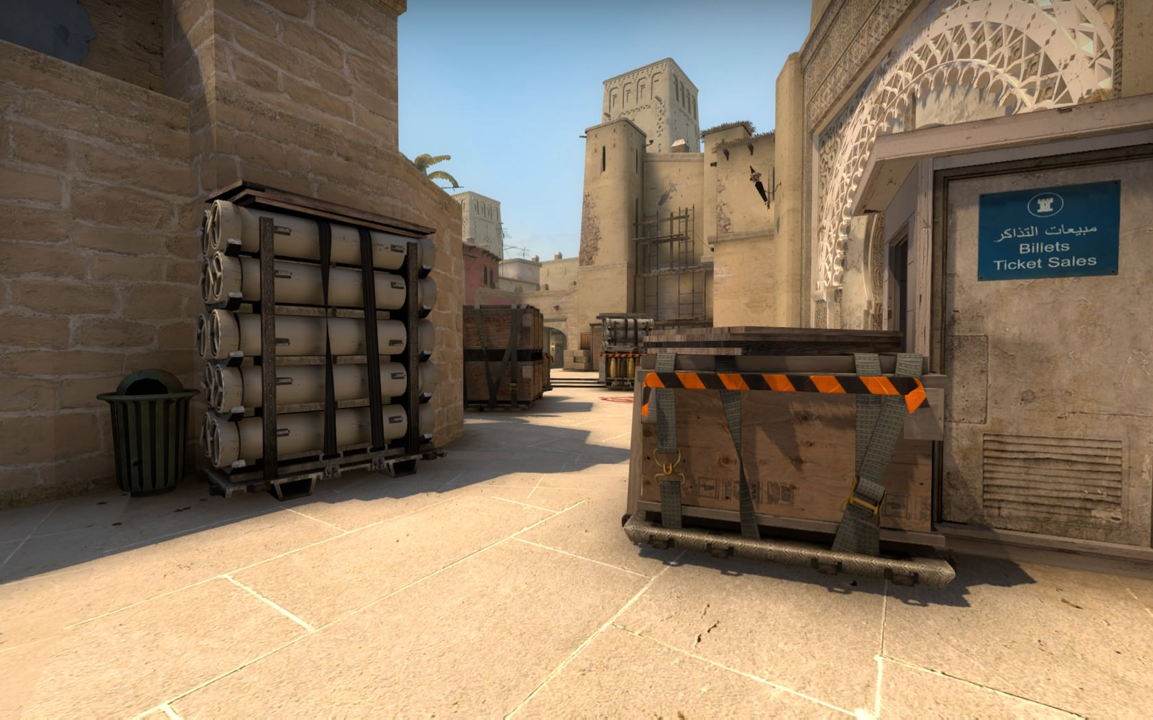 Middle on the Mirage map in CS GO